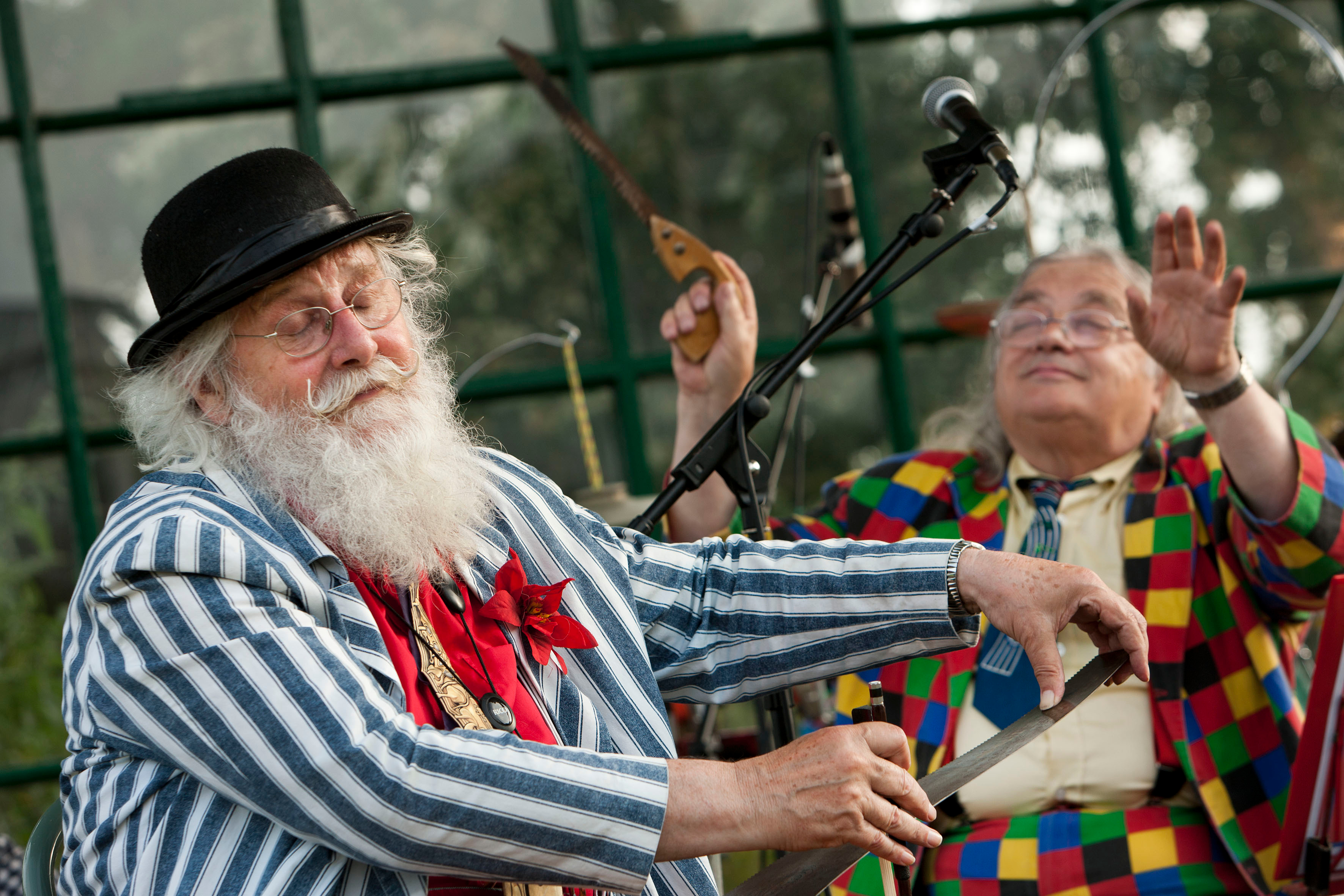 England, Birmingham, 14-07-13 Bob Kerr & his Whoopee band at the Botanical Gardens. © Photo Merlin Daleman